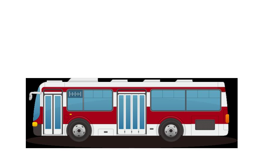 路線バスの商用無料イラスト