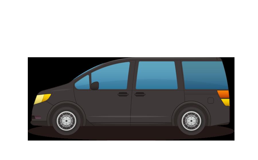 ファミリー用バン・ワゴン車の商用無料イラスト