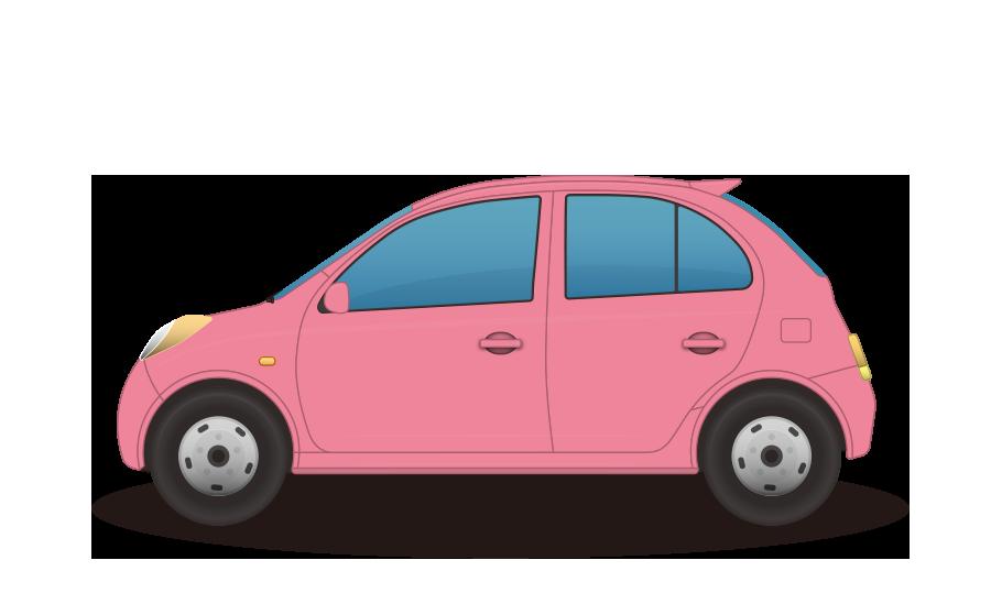 小型乗用車の商用無料イラスト
