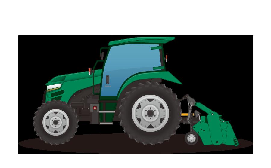 トラクターの商用無料イラスト