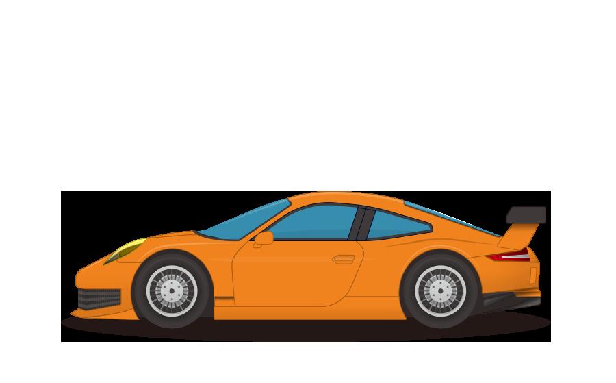 スポーツカーの商用無料イラスト