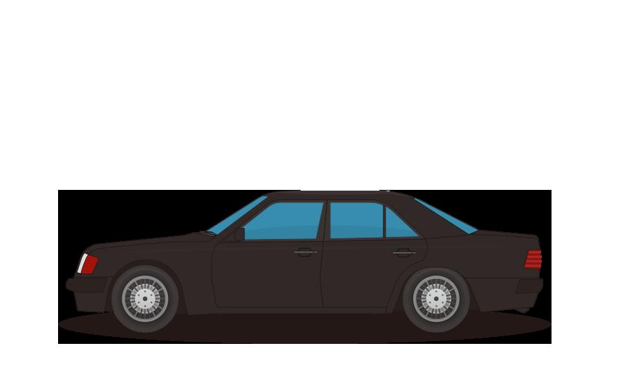 セダン車の商用無料イラスト