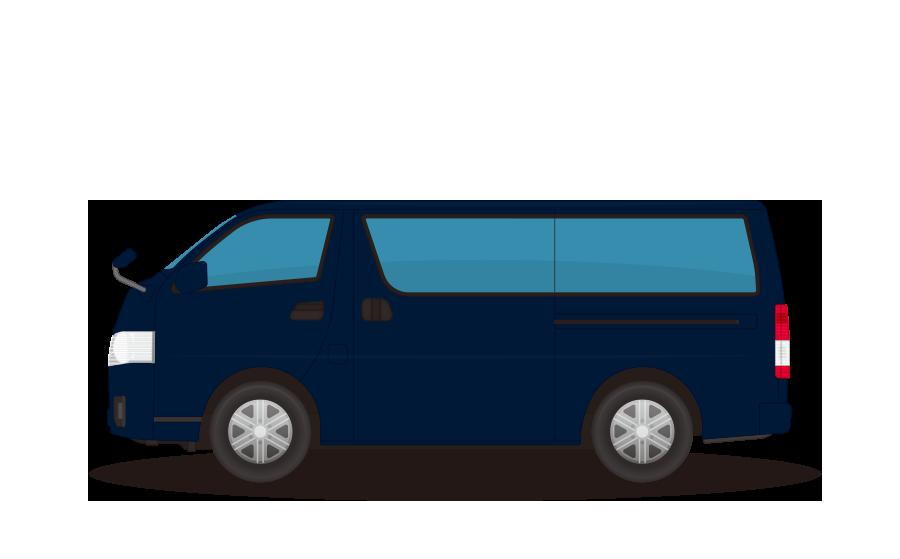 ワンボックスカーの商用無料イラスト