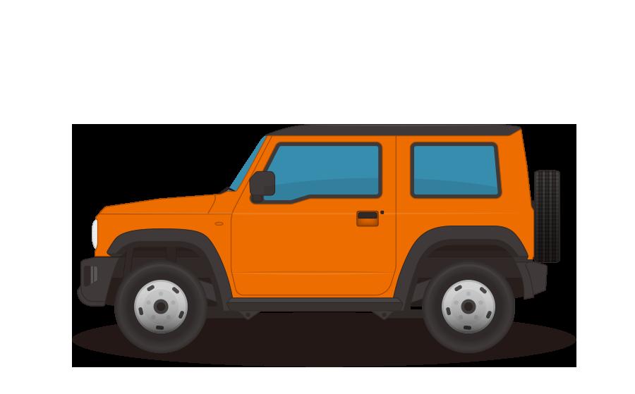 オフロード軽自動車の商用無料イラスト