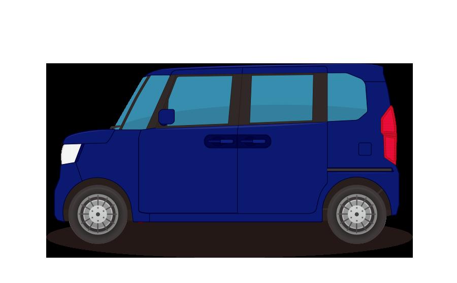 軽ハイトワゴン車の商用無料イラスト