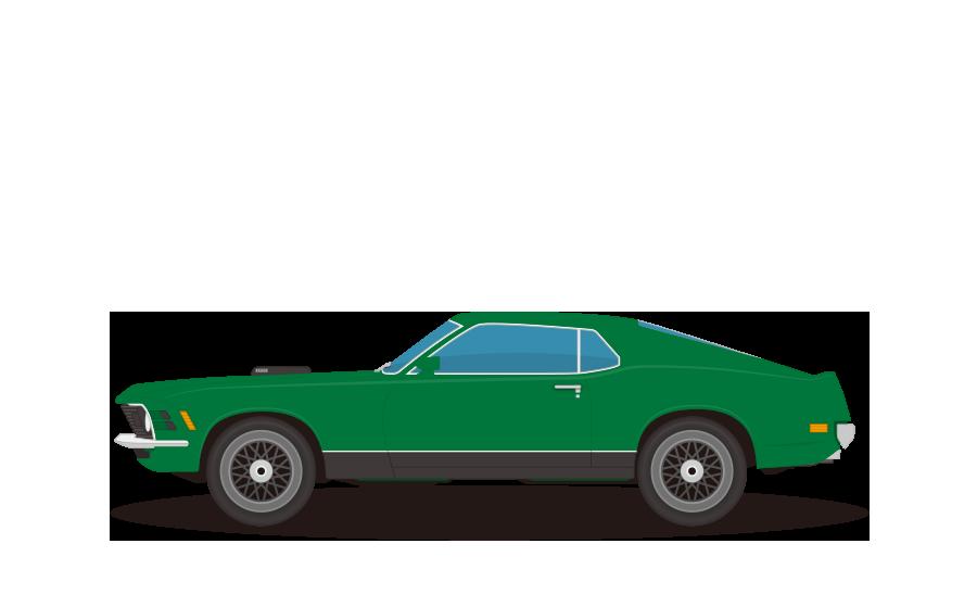 クラシックスポーツカーの商用無料イラスト
