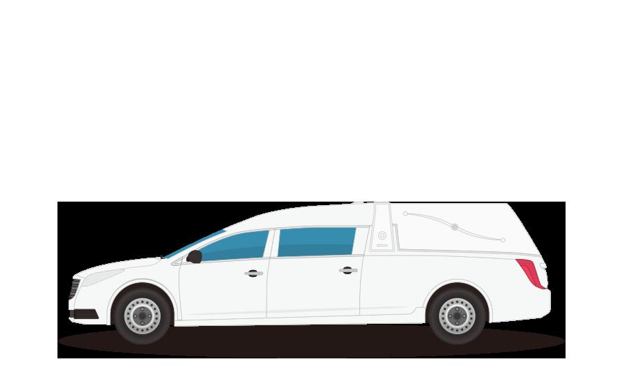 霊柩車の商用無料イラスト