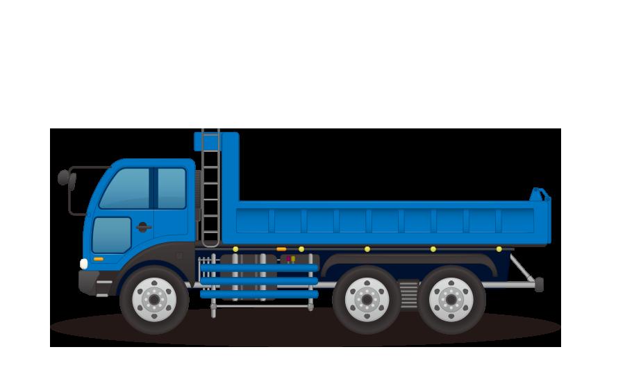 トラックの商用無料イラスト