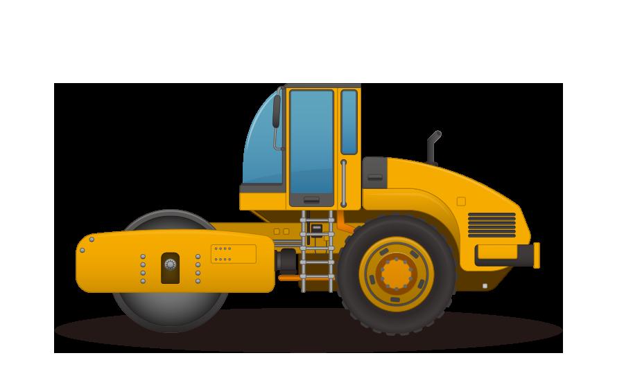 ローラー車 – ロードローラーの商用無料イラスト