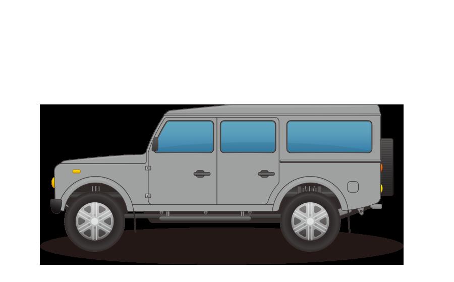 オフロードワゴン車の商用無料イラスト