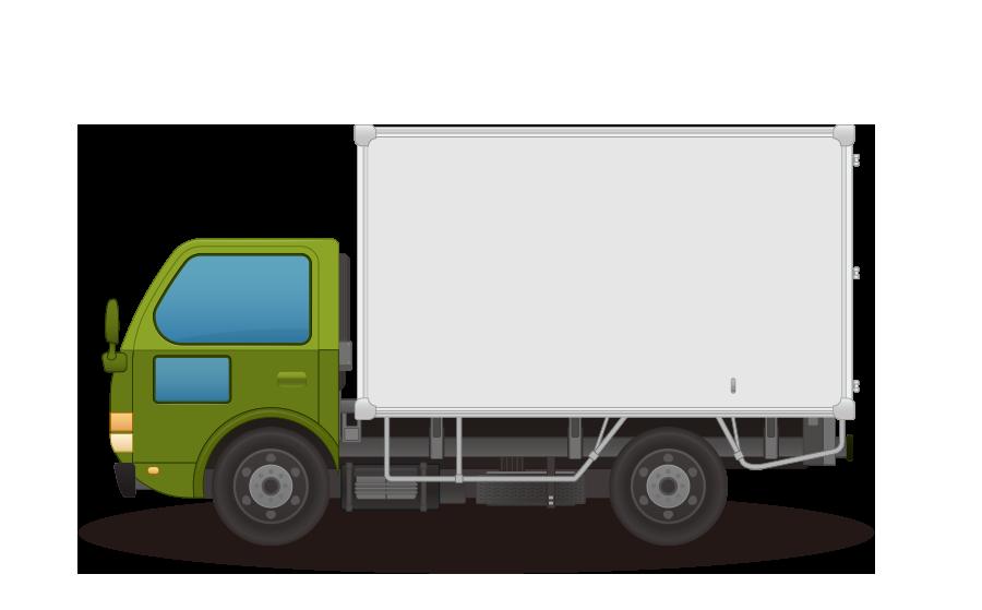 アルミトラックの商用無料イラスト