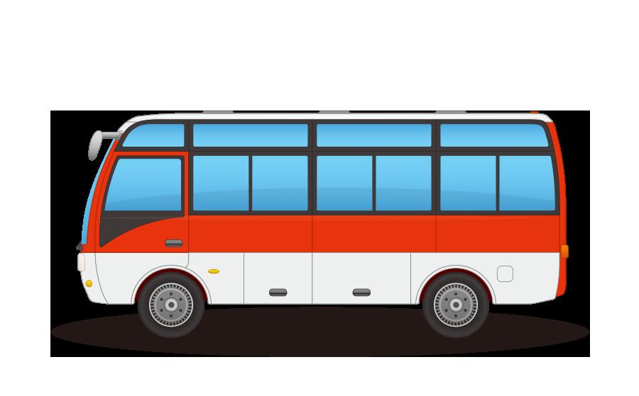 マイクロバス・ミニバスの商用無料イラスト