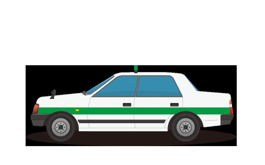 タクシーの商用無料イラスト