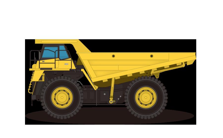 ダンプカー–ダンプトラックの商用無料イラスト