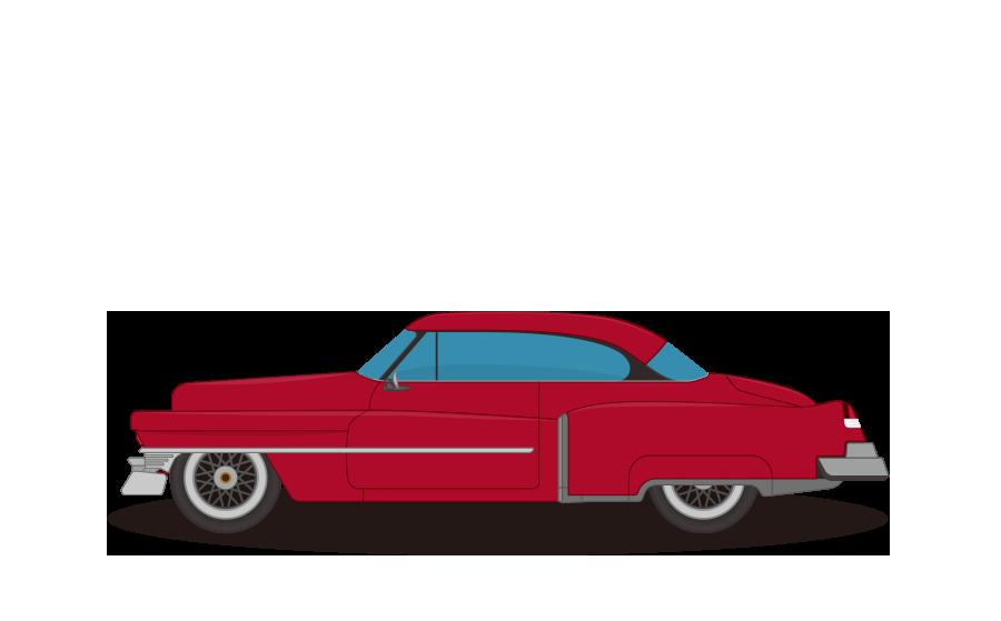 ビンテージカークラシックカー ビークルイラスト 商用無料フリー