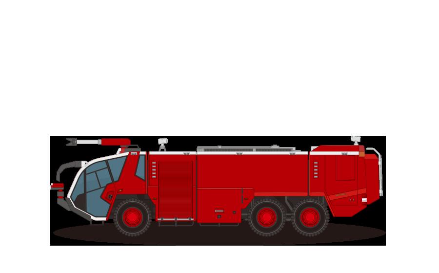 空港用化学消防車の商用無料イラスト