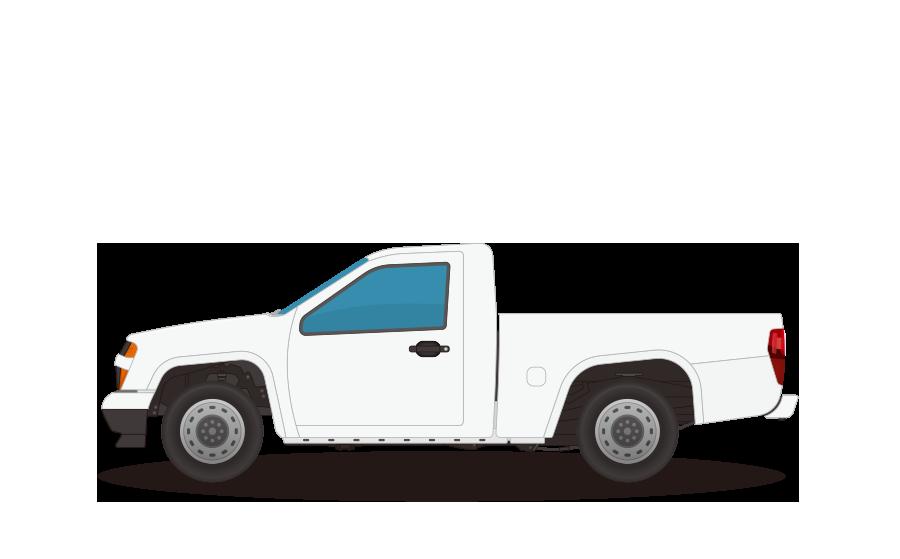 ピックアップトラックの商用無料イラスト