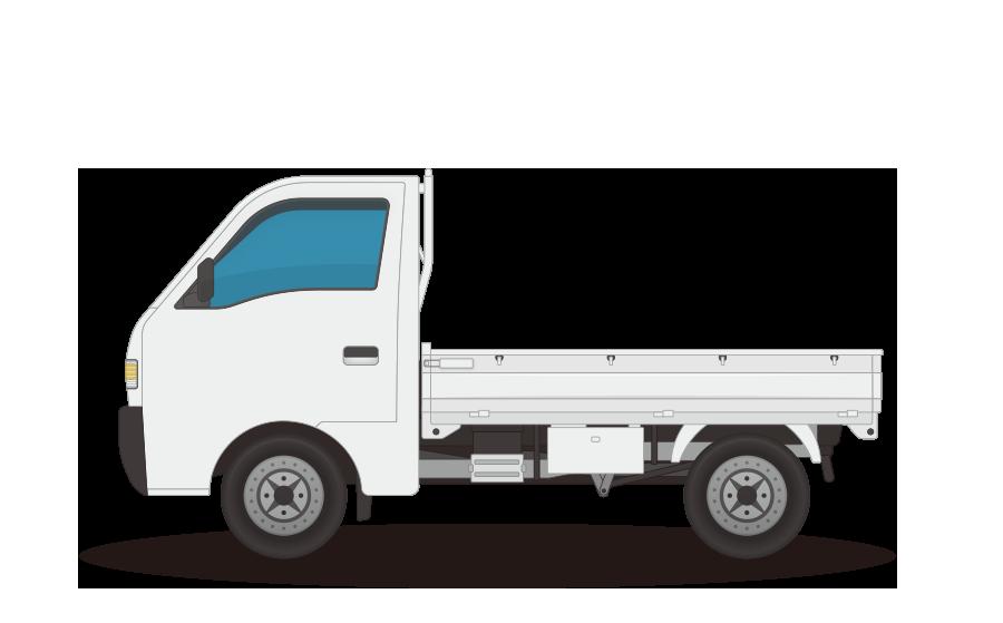 軽トラックの商用無料イラスト