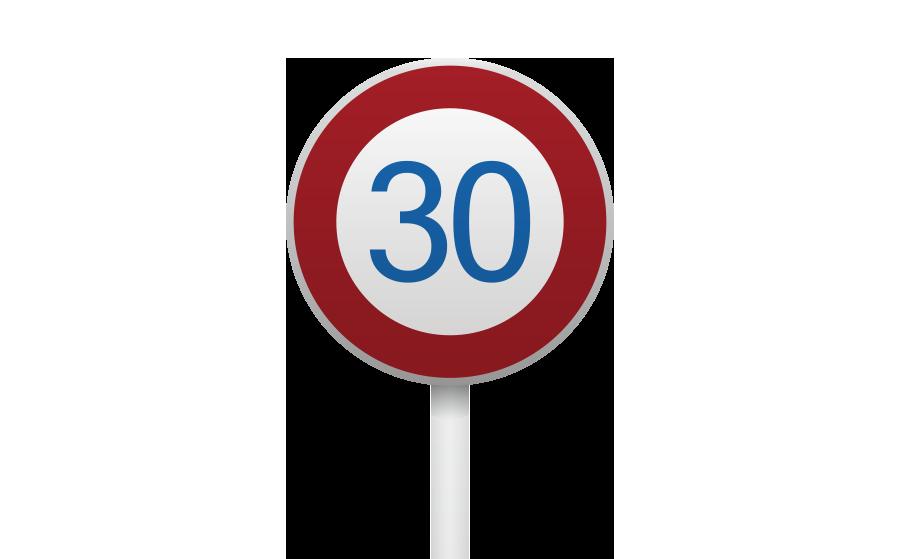 速度制限標識の商用無料イラスト