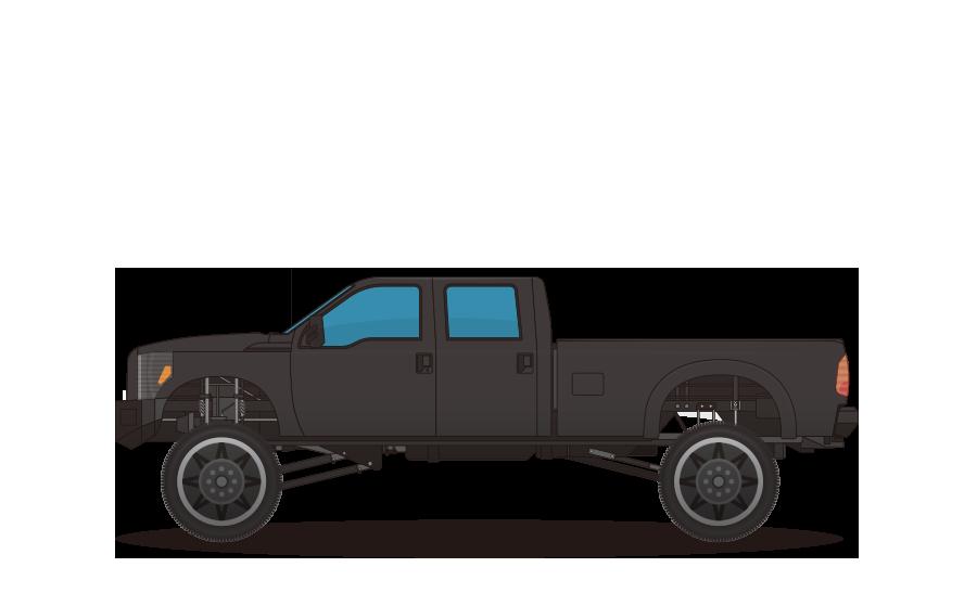 オフロードトラックの商用無料イラスト