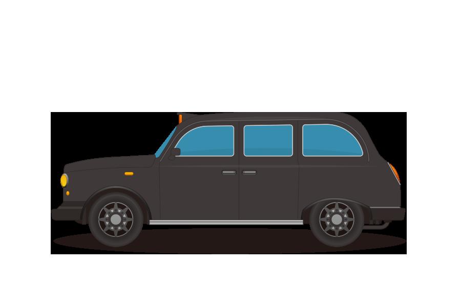 ロンドンタクシーの商用無料イラスト