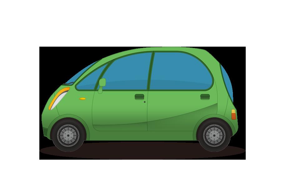 コンパクトカーの商用無料イラスト