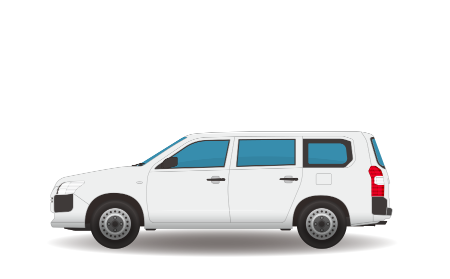 業務用ワゴン車の商用無料イラスト