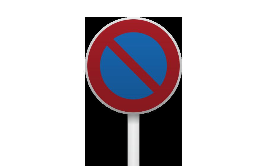 駐車禁止標識の商用無料イラスト
