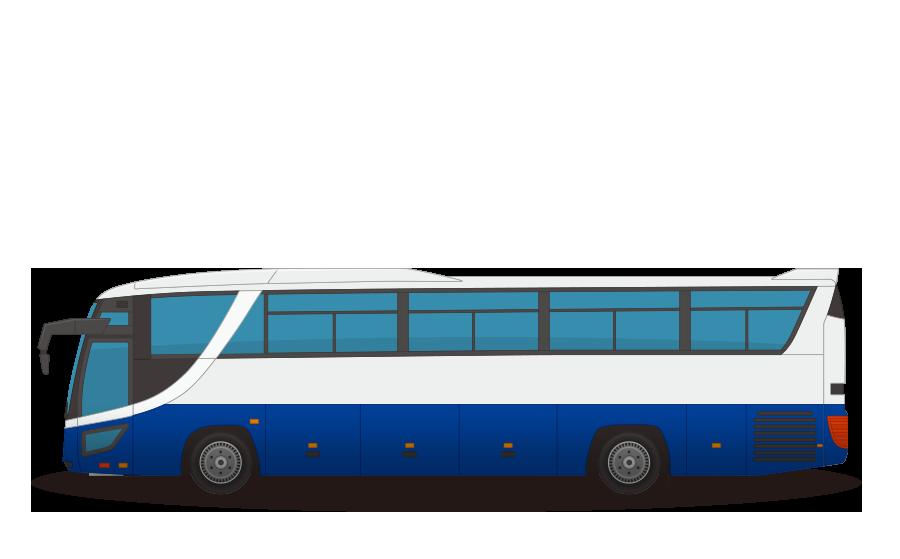 観光バスの商用無料イラスト