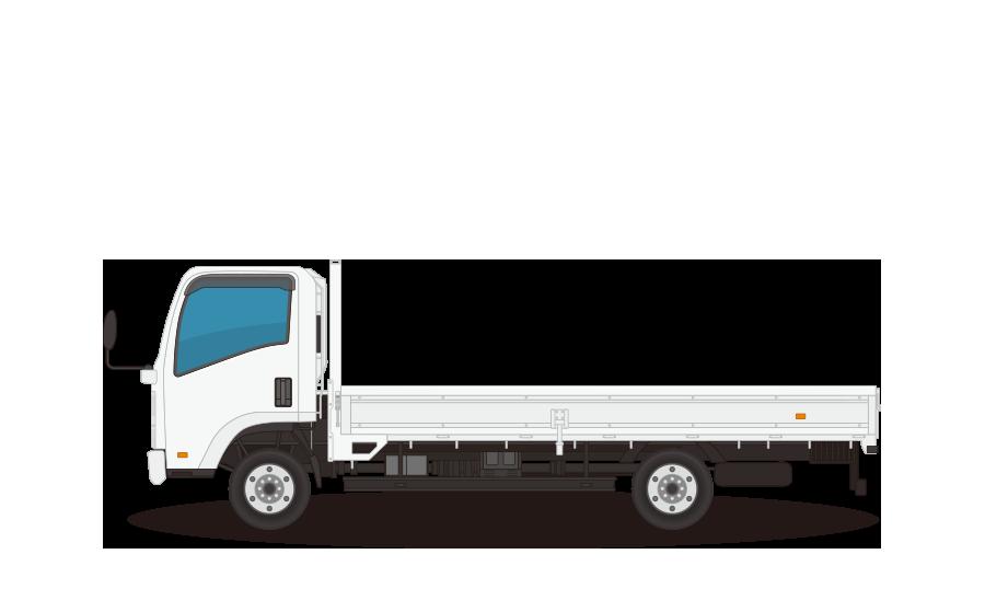 平トラック・平台トラックの商用無料イラスト