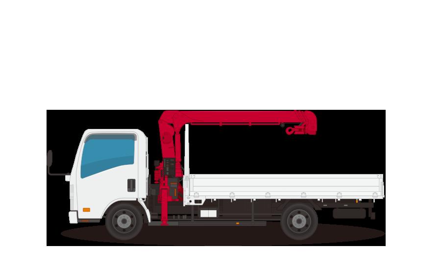 クレーントラック・ユニックトラックの商用無料イラスト