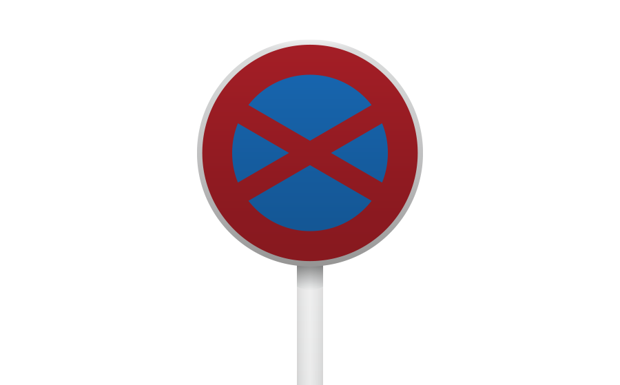 駐停車禁止標識の商用無料イラスト
