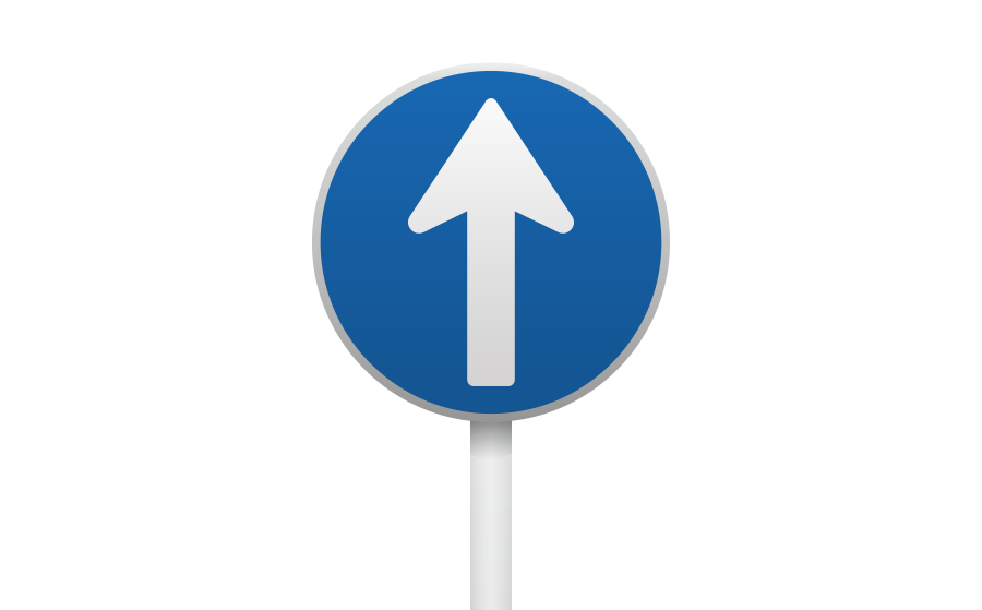 指定方向外進行禁止標識(左折・右折禁止)の商用無料イラスト