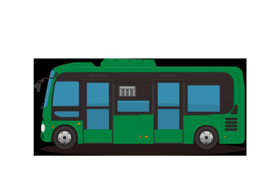 コミュニティバス・シティバスの商用無料イラスト
