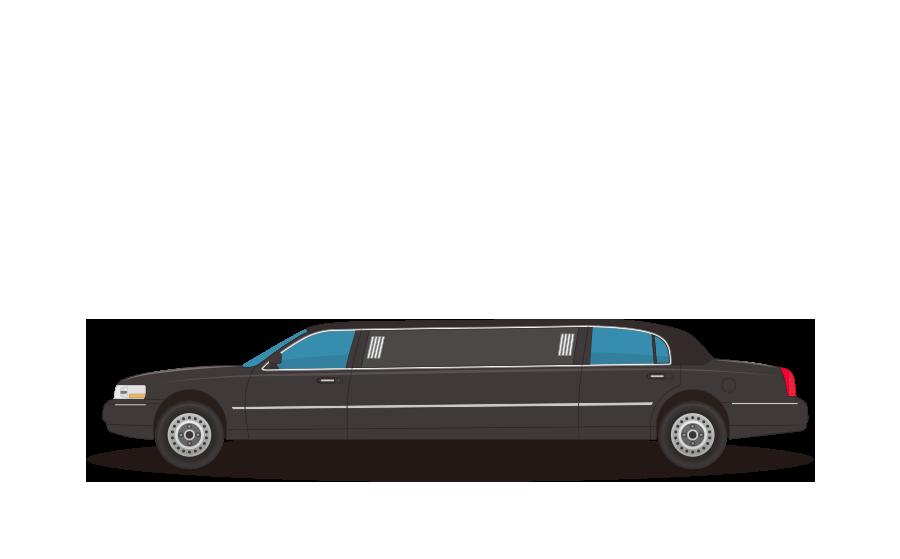 ストレッチリムジン車の商用無料イラスト
