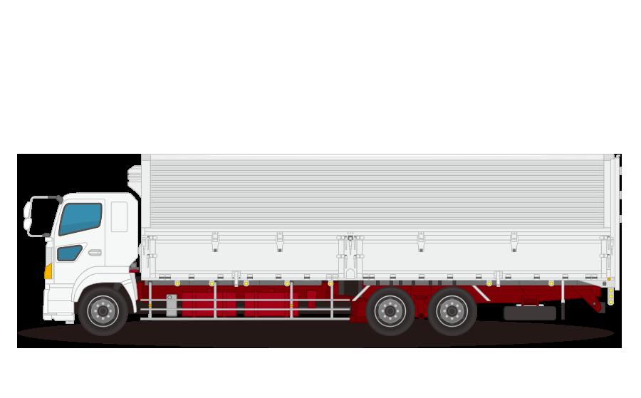 大型冷凍・冷蔵トラックの商用無料イラスト