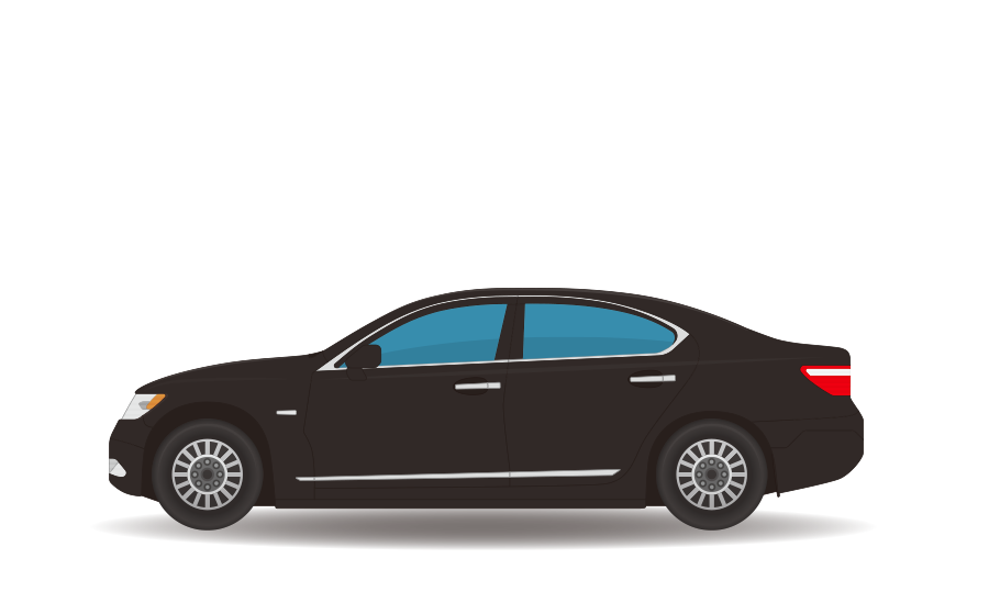 ハイヤー(セダン車)の商用無料イラスト