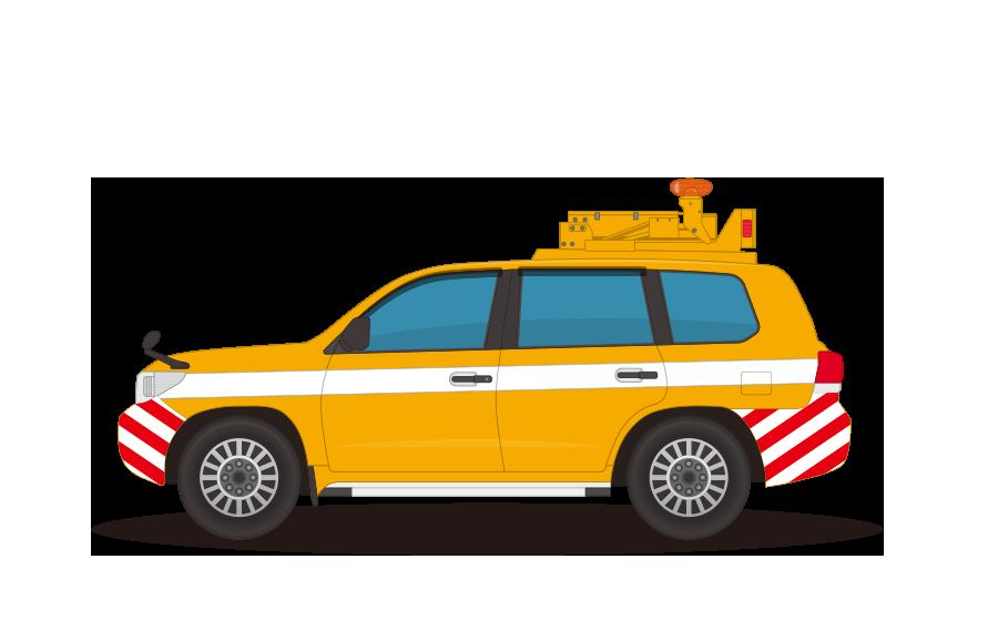 高速道路パトロール車(ハイウェイパトロールカー)の商用無料イラスト