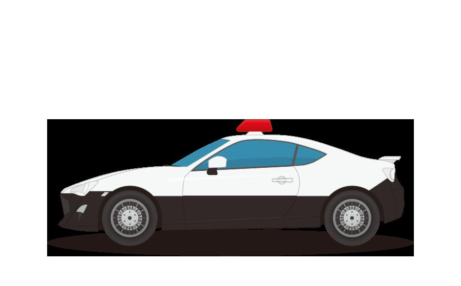 パトカー(高速道路交通警察隊)の商用無料イラスト
