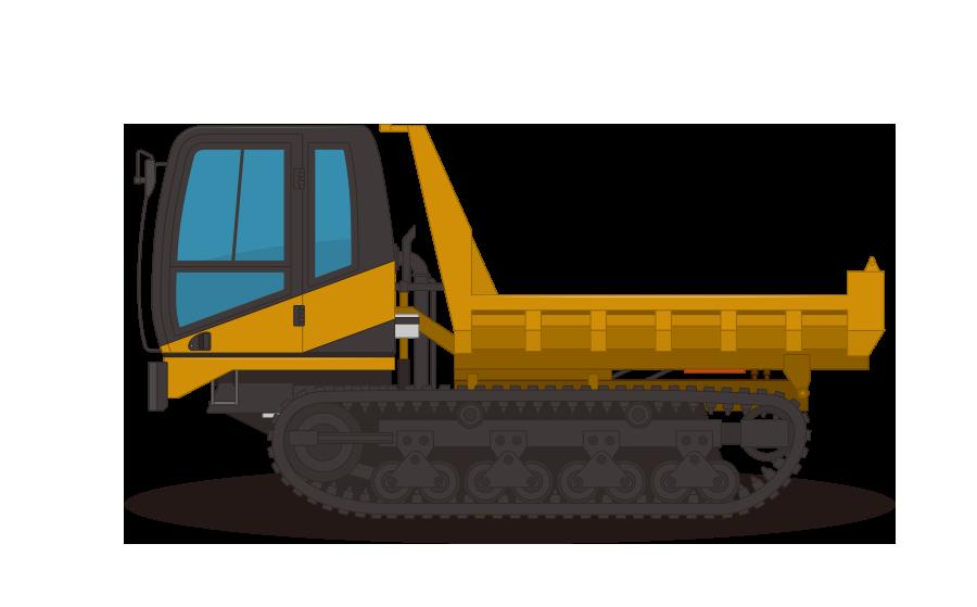 クローラーダンプ・不整地運搬車の商用無料イラスト