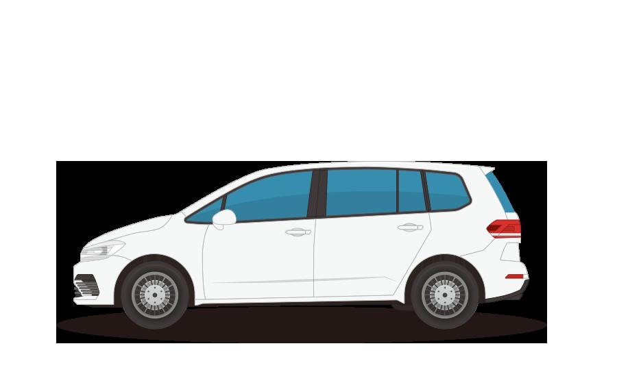 7人乗りワゴン車の商用無料イラスト